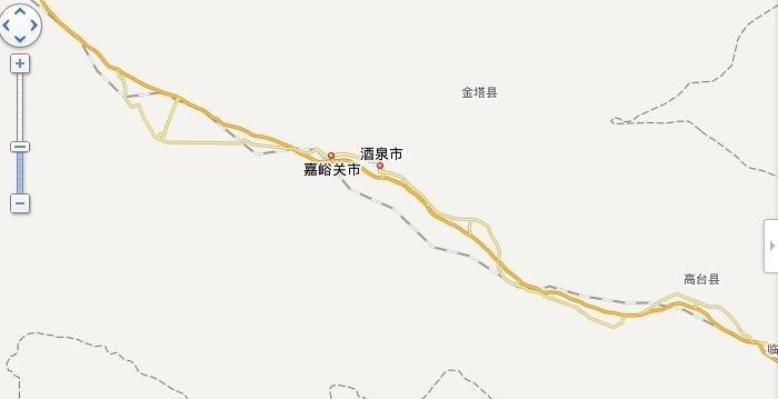 嘉峪关至乌鲁木齐高速公路地图