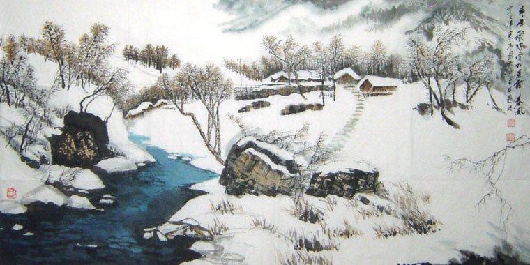田园意境画风景手绘