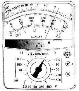 (3)注意事项: 所有电表的使用,还有一个要求:选择合理的档次,致使指针
