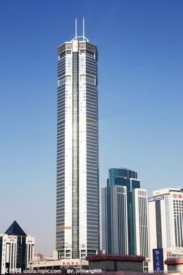 采用框架筒体结构,占地面积9653m2