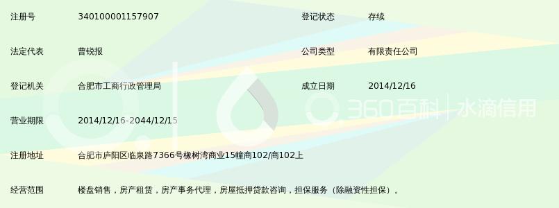 合肥天锐房产代理销售有限公司_360百科