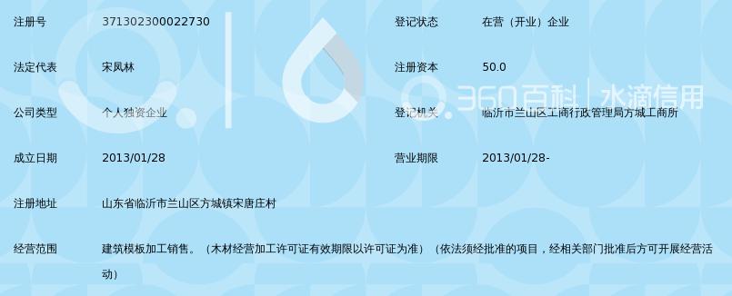 临沂市兰山区凤林建筑模板厂设计报纸方案图片