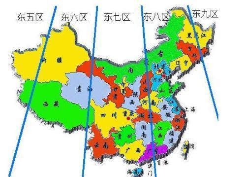 中国地图及其周边海域