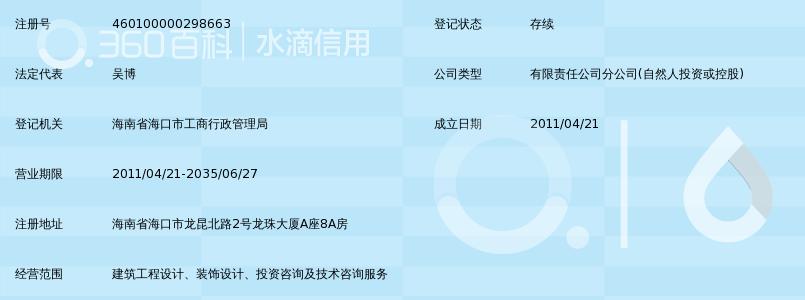 辽宁北方建筑设计院有限责任公司海南分公司
