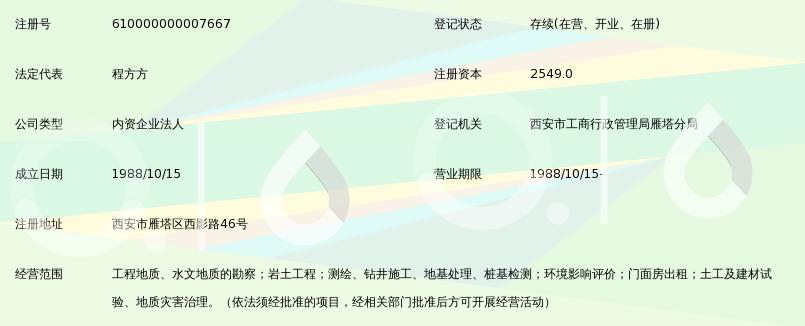 中国有色金属工业西安勘察设计研究院
