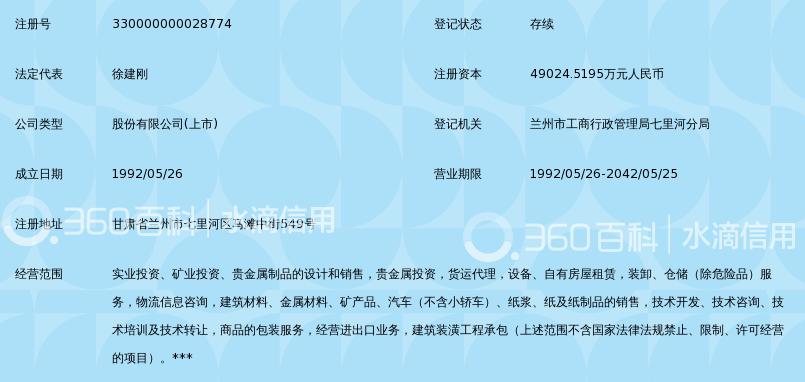 甘肃刚泰控股(集团)股份有限公司_360百科