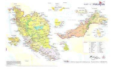 马来西亚国家地图