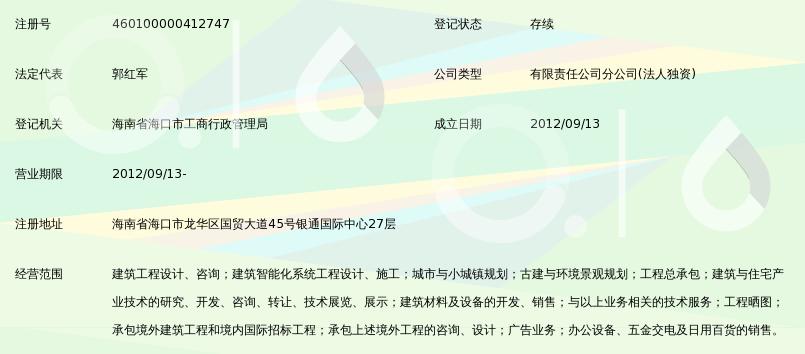 中国建筑设计院有限公司海南分公司_360百科