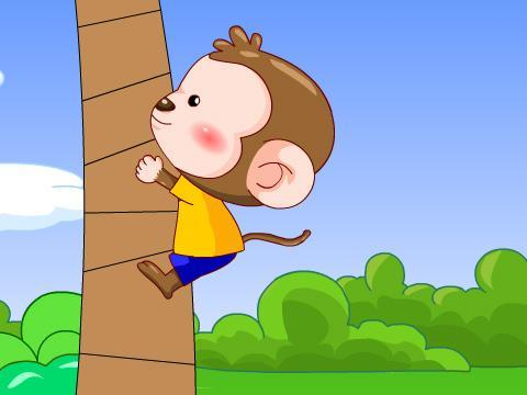 松鼠爬树图片卡通