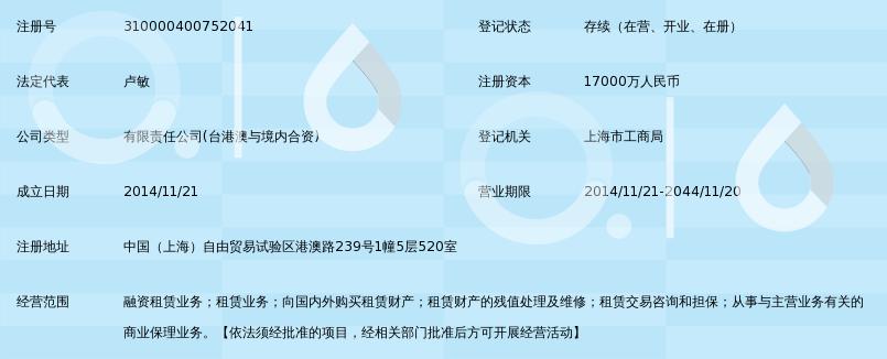通融悦业融资租赁(上海)有限公司_360百科