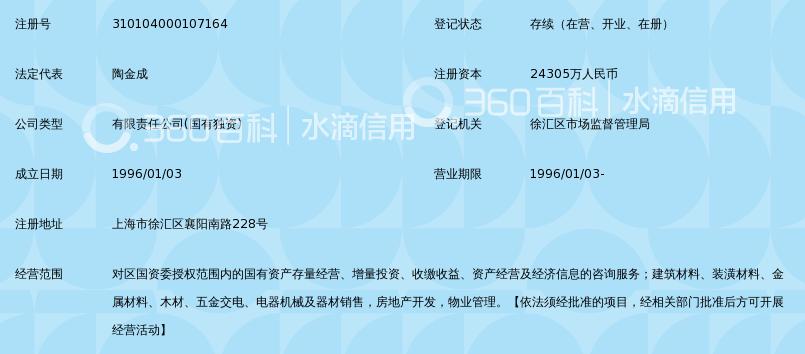 上海徐汇国有资产投资经营有限公司