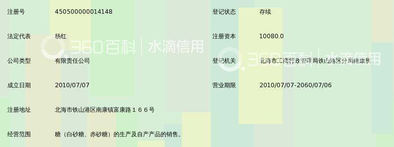 中粮屯河北海糖业有限公司_360百科