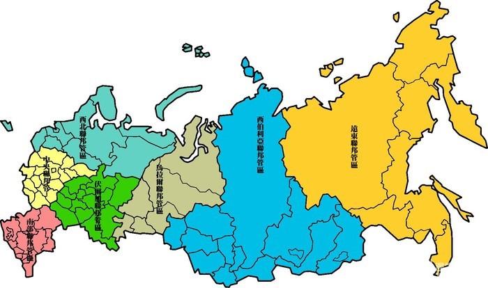 在俄罗斯地图中的的位置